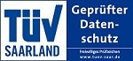 Siegel TüV Saarland - Gepürfter Datenschutz