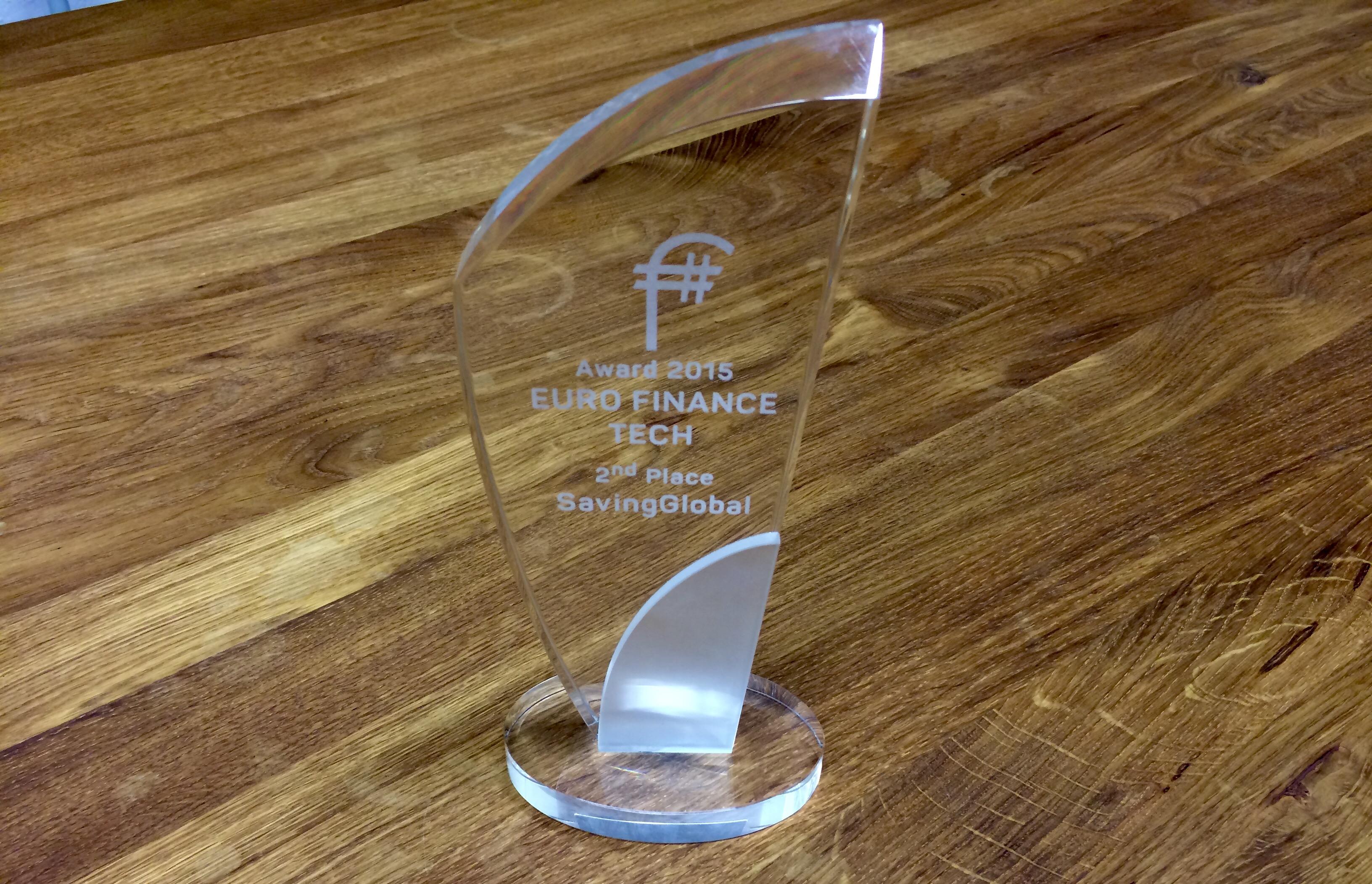 2. Platz des Euro Finance Tech Awards